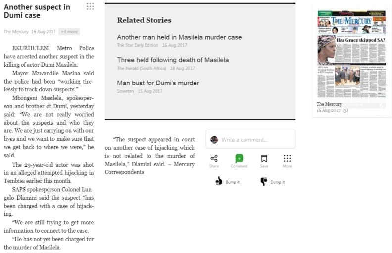 Another Suspect in Dumi Case Mercury